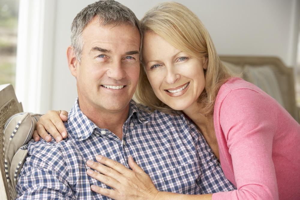 happy couple at 50